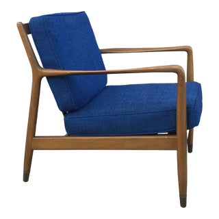 Vintage 1950s Folke Ohlsson for Dux Lounge Chair For Sale