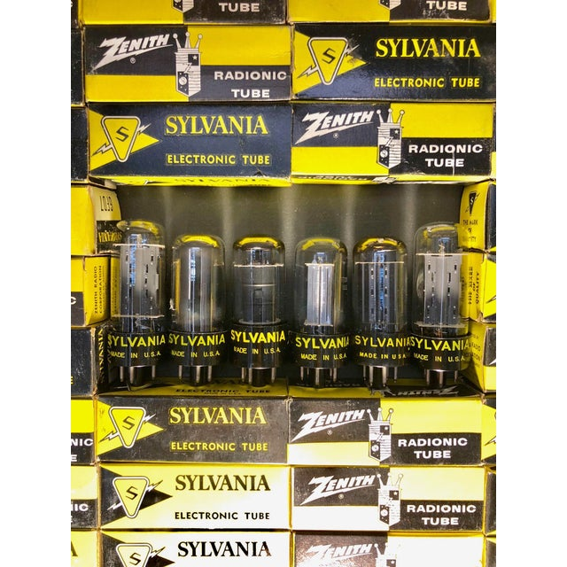 Submitted for your consideration is this wall sculpture of Sylvania, Zenith and G.E. TV and Radio tubes dating back to the...