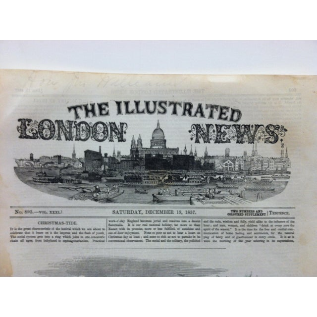 """1857 Antique Illustrated London News """"Hindoo Dance"""" Print For Sale - Image 4 of 5"""