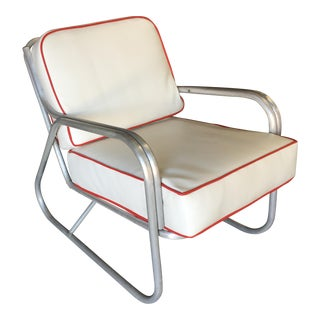 Mid-Century Aluminum Patio/Outdoor Lounge Chair For Sale