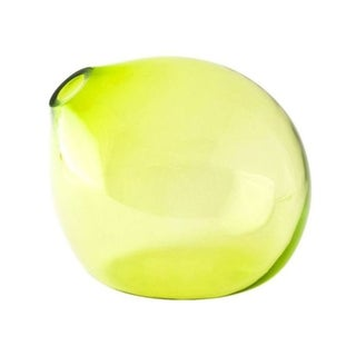 John Pomp Drop Vase in Citron For Sale