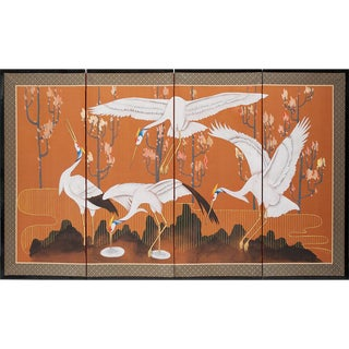 Japanese Dancing Cranes Screen, C. 1960s