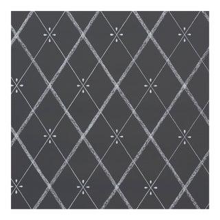 Schumacher Kasumi Diamond Wallpaper in Chalkboard For Sale