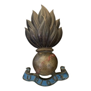 Antique Bronze Royal Artillery Collar Badge For Sale