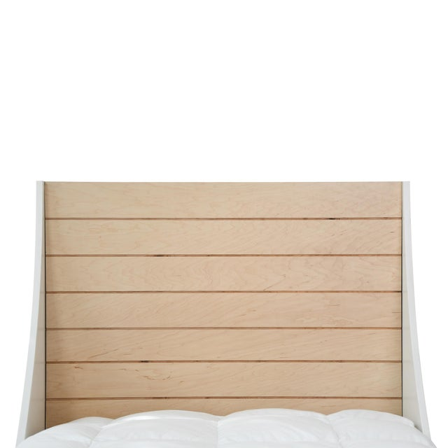 The Minimo Maple Wood Twin Panel Bed. Recharge and relax. Distinguished minimal design, clean sweeping curves and a...