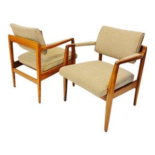 Mid-Century Modern Marble Furniture Co Club Chairs- A Pair For Sale
