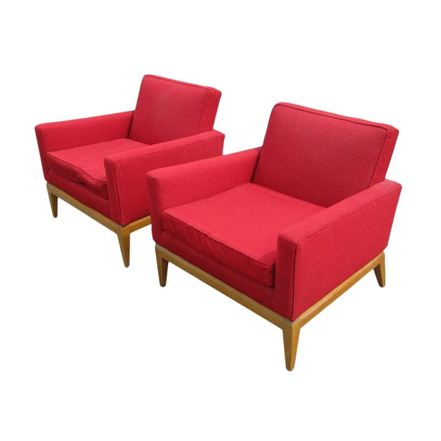 Pair Vintage Mid-Century Heywood Wakefield M1161g Lounge Chairs For Sale