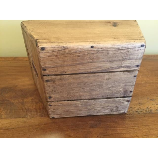 Vintage Mid-Century English Wooden Cheese and Ham Monger Basket For Sale - Image 6 of 7