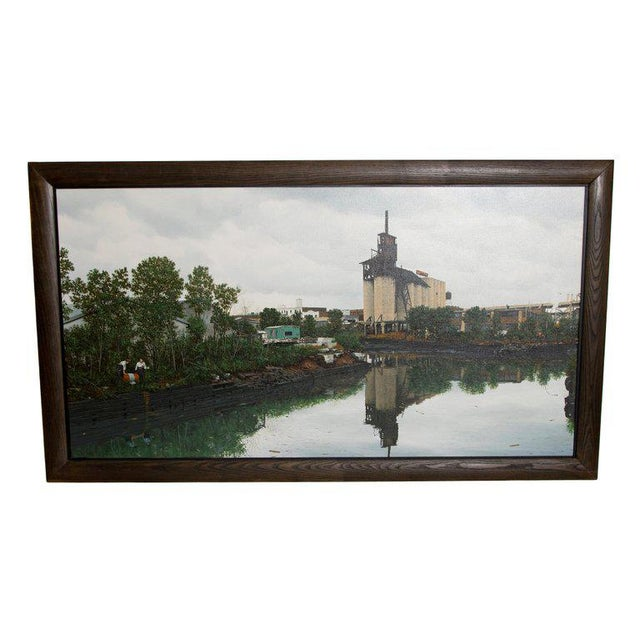 "Oil on Canvas by Randy Dudley Titled ""4th St. Basin - Gowanus Canal"" For Sale - Image 13 of 13"