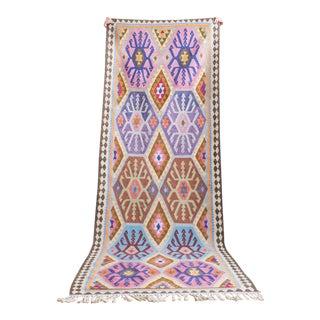 Vintage Kilim Runner Rug | Harsin Style 9' X 3' For Sale