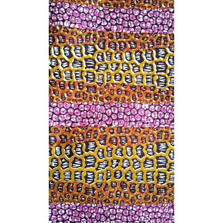 1970s Vintage African Brown and Purple Fabric - 6 Yards For Sale