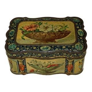 1878 Paris Grand Prize Biscuit Tin Box For Sale
