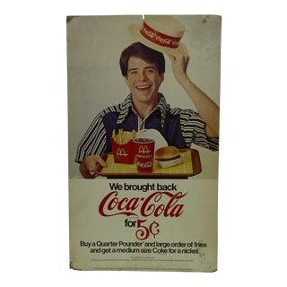 Vintage McDonalds & Coca-Cola Advertising Sign For Sale