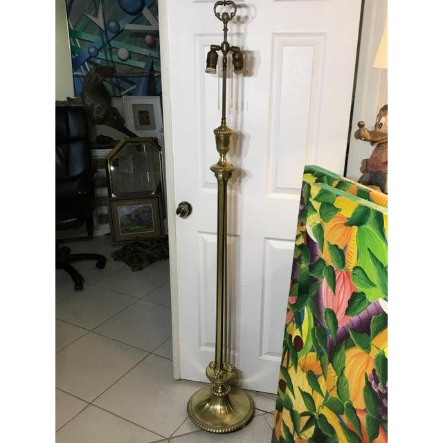 Vintage Bronze English Floor Lamp - Image 4 of 11