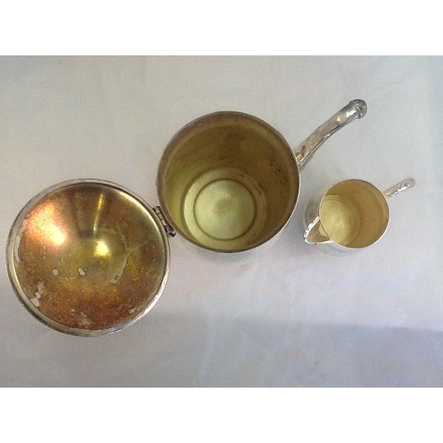 Vintage Coffee Pitcher. Vintage Creamer. Silverplate Oneida Coffee Pitcher & Creamer - Image 7 of 7