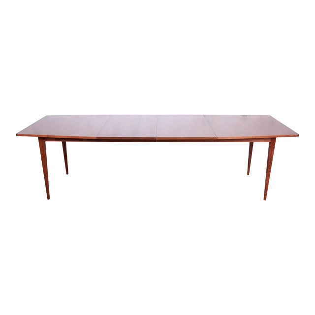 Kipp Stewart for Calvin American Design Foundation Walnut and Rosewood Boat-Shaped Extension Dining Table For Sale
