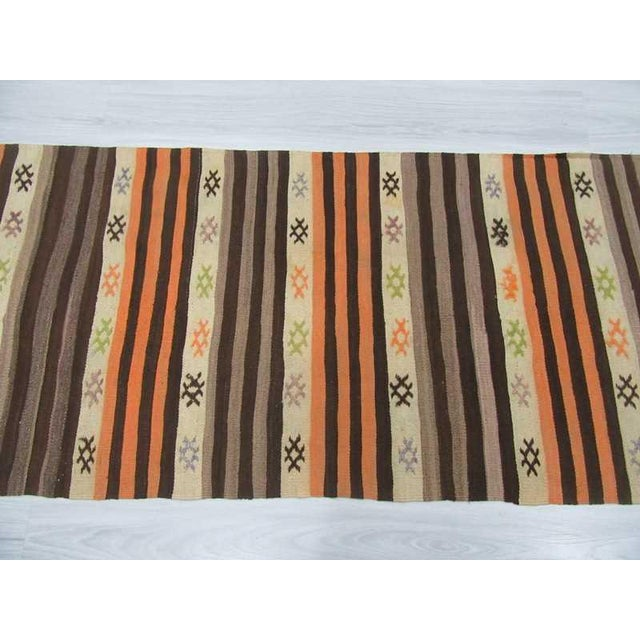 Islamic Striped Vintage Kilim Runner - 2′8″ × 11′3″ For Sale - Image 3 of 6