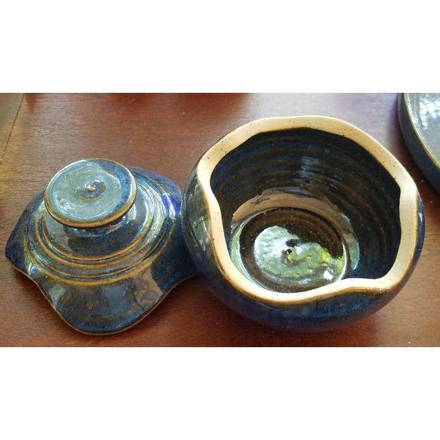Saint Amand en Puisaye Les Bleus Condiment Set - Image 10 of 11
