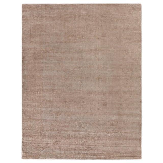 "Textile Raven Hand loom Wool/Viscose Beige Rug-8'x10'"" For Sale - Image 7 of 7"