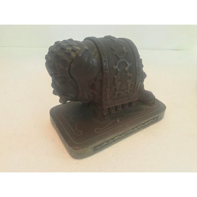 Armor Bronze Company 1920s Elephant Bookends - a Pair For Sale - Image 9 of 13