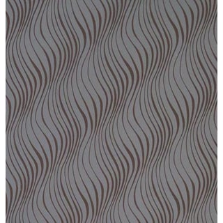 Erica Tanov Tendril Wallpaper in Charcoal + Chocolate - 1 Roll For Sale