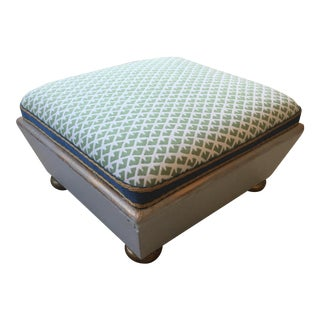 "Antique ""Madcap Cottage"" Upholstered Footstool"