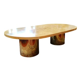 Milo Baughman Double Pedestal Dining Table