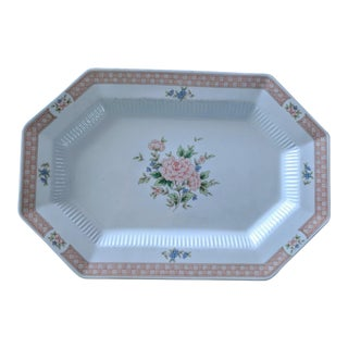 """1980s Vintage Nikko """"Cameo Rose"""" Platter For Sale"""
