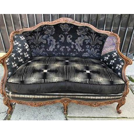 Modern Recycled Reupholstered Victorian Sofa | Chairish