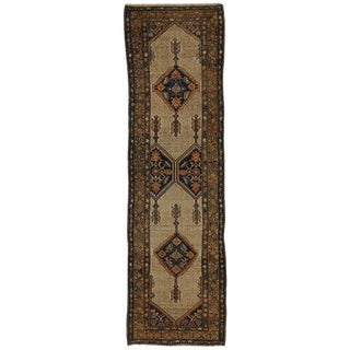 19th Century Persian Camel Hair Malayer Runner For Sale