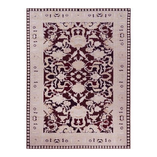 "Persian Mansour Fine Handwoven Agra Rug - 6'2"" X 8'9"" For Sale"