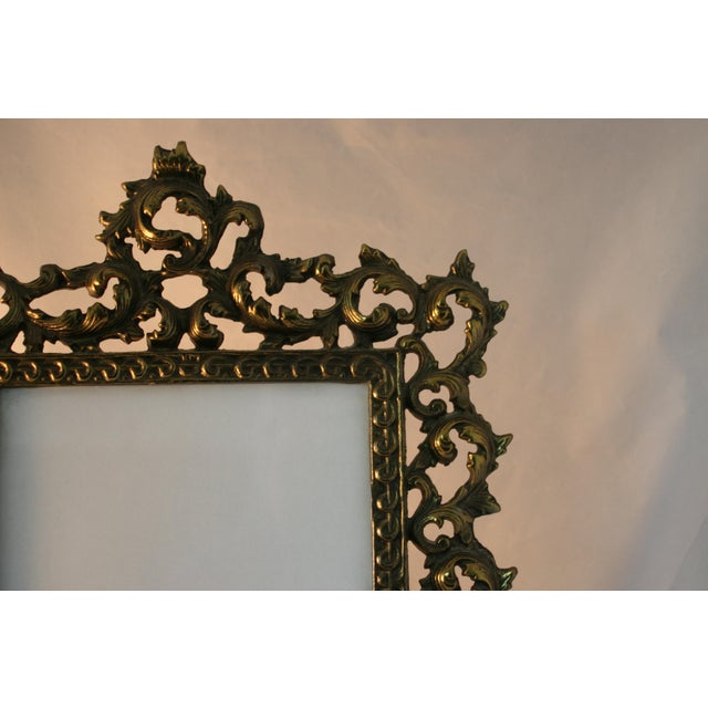 Vintage Brass Rococo Table Top Picture Frame - Image 6 of 6