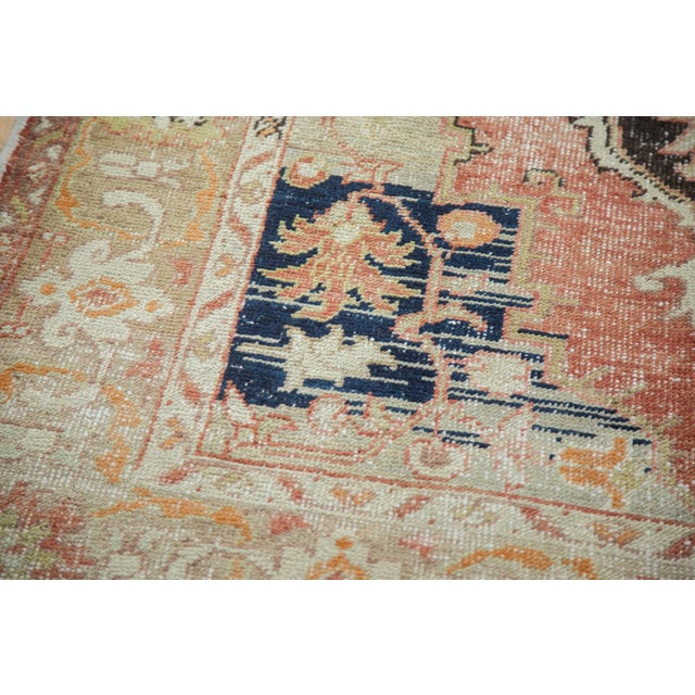 Tan Vintage Oushak Carpet - 4′10″ × 8′2″ For Sale - Image 8 of 10