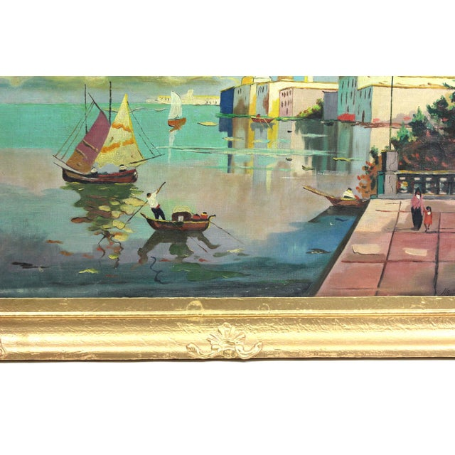 1930s Beach Mediterranean Fine Oil Painting - Image 9 of 9