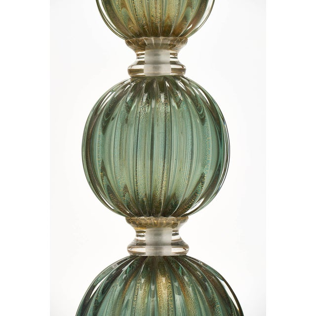 Green Avventurina Murano Glass Lamps For Sale In Austin - Image 6 of 10