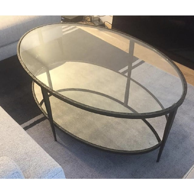 2010s Crate & Barrel Clairemont Oval Coffee Table For Sale - Image 5 of 5