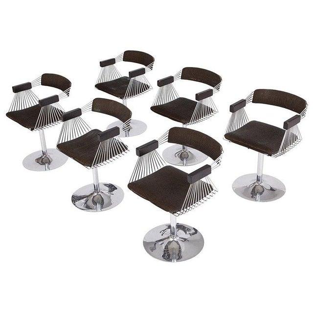 Rudi Verelst Space Age Swivel Armchairs in Chromed Steel For Sale - Image 12 of 12
