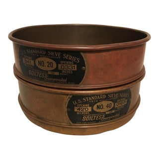 Brass & Copper Mining Pan Sifters - a Pair
