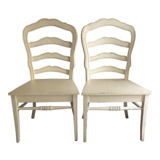 Bradshaw Kirchofer Ladder Back Dining Chairs - a Pair For Sale