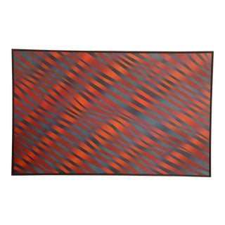 """J. Brown Op Art """"Fire and Water"""" Painting For Sale"""