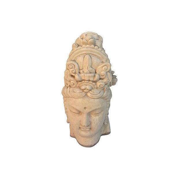 Chinese Ivory Terracotta Buddha Head - Image 6 of 7