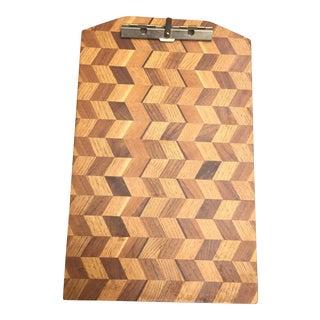 Chevron Herringbone Wood Clipboard