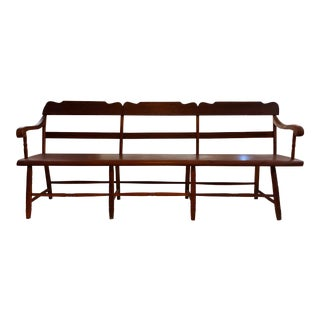 """Mid 19th Century Vintage Early American """"Deacon's Bench"""" For Sale"""