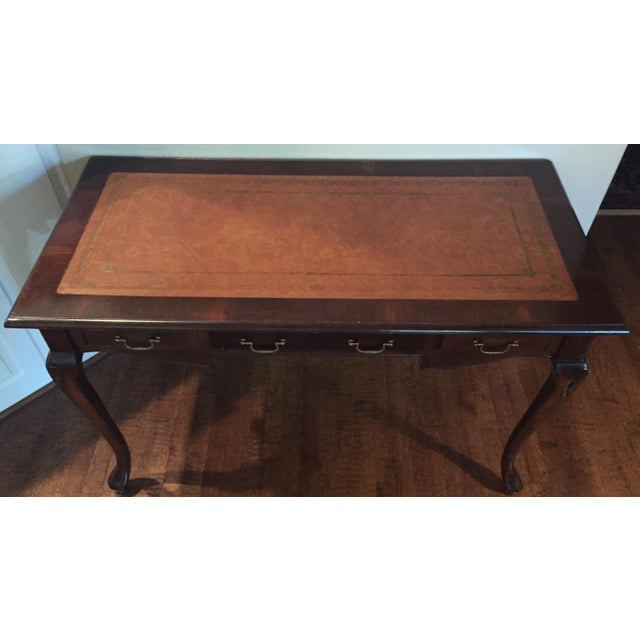 Antique Leather Inlaid Desk - Image 6 of 6