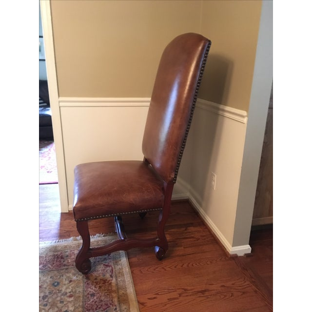 Ralph Lauren Leather Dining or Accent Chairs - S/2 - Image 3 of 8