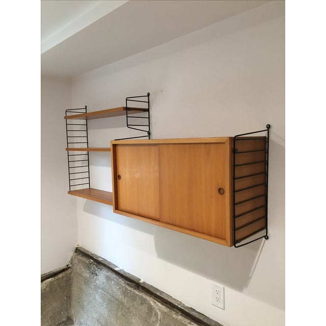 Mid-Century Modern String Shelves and Cabinet by Nisse Strinning For Sale - Image 3 of 11