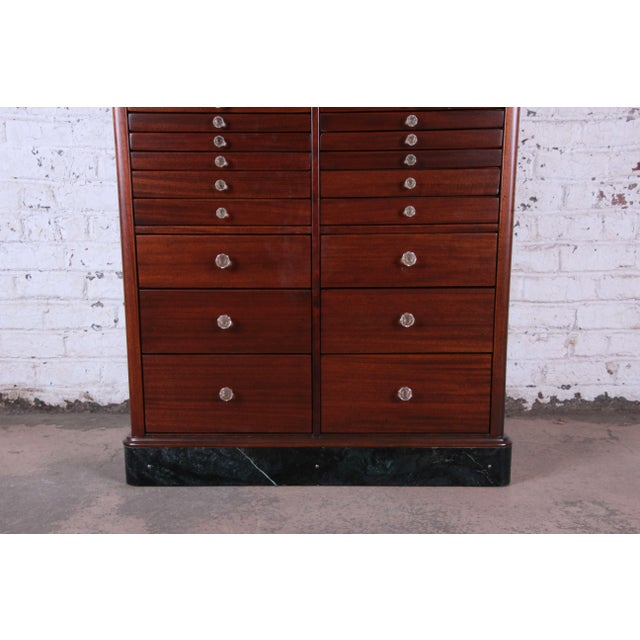 1920s 1920s Exceptional Antique 22 Drawer Mahogany Dental Cabinet For Sale - Image 5 of 13