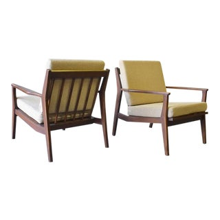 Mid Century Modern Armchairs Lounge Chairs, a Pair For Sale