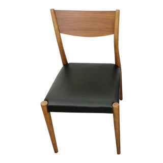 West Elm Tate Black Leather Dining Chair