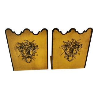 Mid-20th Century Toleware Bookends - a Pair For Sale